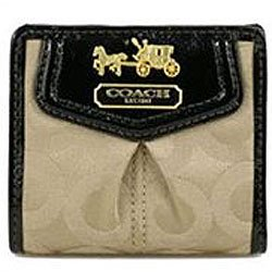 Coach Madison Op Art Signature Wallet Bag 43255 Khaki