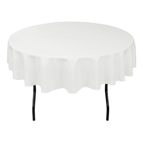 linentablecloth 70 inch round polyester tablecloth white new ebay. Black Bedroom Furniture Sets. Home Design Ideas