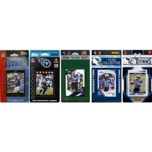C & I Collectables TITANS511TS NFL Tennessee Titans 5 Different Licensed Trading Card Team Sets