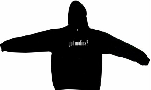 Got molina? Men's Hoodie Sweat Shirt XL, Black at Amazon.com