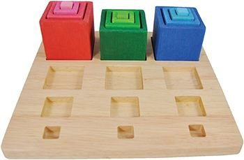 Guidecraft Nest & Stack Wooden Blocks - Cubes