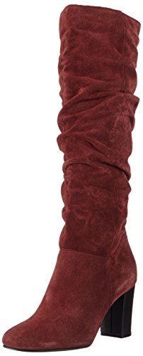 VERO MODA Vmconnie Leather High Boot, Stivali donna, Rosso (Rot (Rosewood)), 39