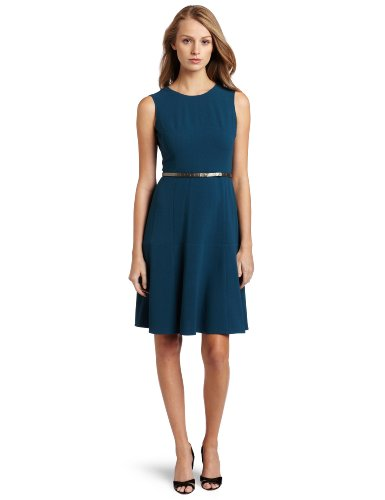 Calvin Klein Women's Fit and Flare Dress, Legion, 14