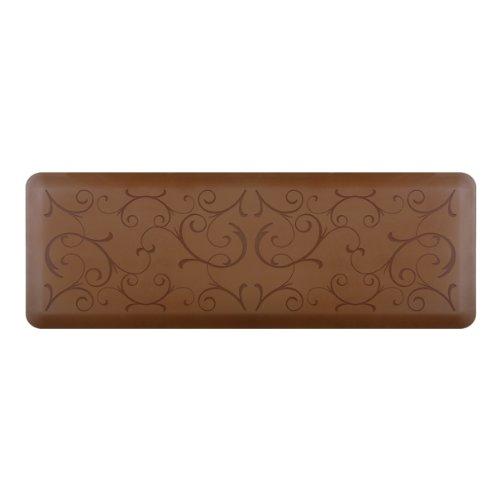 anti fatigue 72 inch by 24 inch bella motif kitchen mat brown kitchen