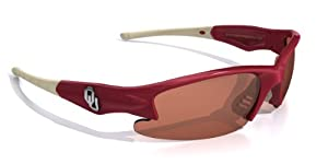 NCAA Oklahoma Sooners Phantom Sunglasses with Bag, Red and White, Adult by Maxx