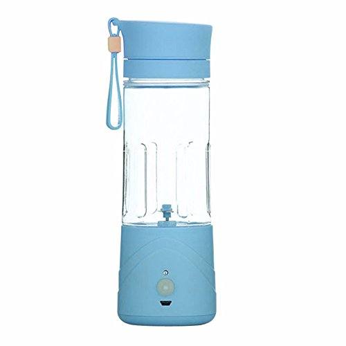 Portable Lightweight Personal Juicer Smoothie Blender Rechargeable Battery Operated Cordless (Blue) (Cordless Juicer compare prices)