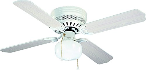 bala 824038 four blade ceiling fan with school house light kit 42 inch white home garden. Black Bedroom Furniture Sets. Home Design Ideas
