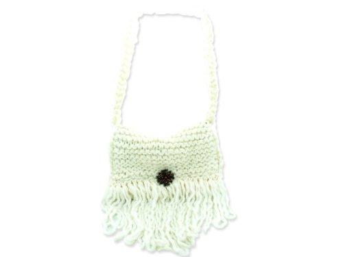 Wholesale Set Of 1, Cream Colored Hand Knit Shoulder Bag (Fashion Accessories, Handbags), $29.67/Set Delivered