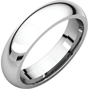 14kt Rose 4mm Comfort Fit Wedding Band ,Size- 8
