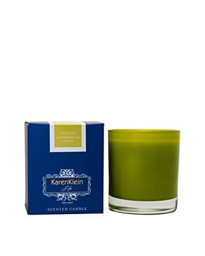 Karen Klein Life Florentine 10.25-Oz. Solid Candle, Sicilian Lemongrass