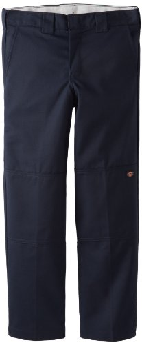 Dickies Kids Big Boys' Husky Flexwaist Double Knee Pant With Extra Pocket, Dark Navy, 14 Husky