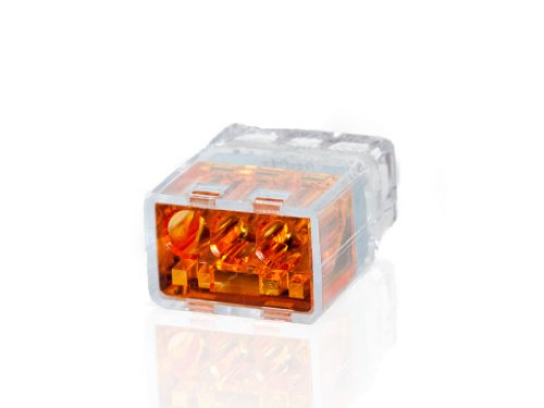 Push-In Wire Connectors - Orange - 3 Wire - 100 Count