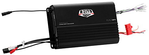 BOSS AUDIO BR1000 Marine Weather Proof 1000-Watt Full Range, Class A/B 2-8 Ohm Stable 4 Channel Amplifier with Remote Subwoofer Level Control (65 Mustang Door Panels compare prices)