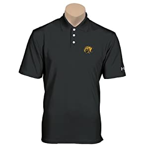 Arkansas Pine Bluff Under Armour Black Performance Polo