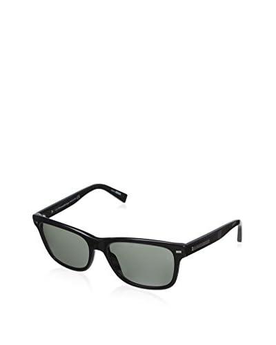 Ermenegildo Zegna Men's EZ0001 Sunglasses, Shiny Black/Green