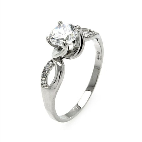 Simple Yet Elegant Round Brilliant Cut Cubic Zirconia Engagement Ring, Includes Gift Box and Pouch. (8)