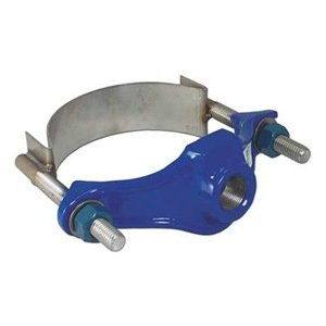 Smith-Blair Ductile Iron Saddle Clamp, Stainless Steel Single Strap, 4