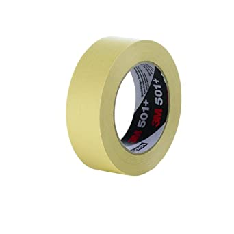 3M Specialty High Temperature Masking Tape 501+, Tan (Multiple Sizes)
