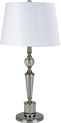 Milton Greens Stars Silvia Crystal Table Lamp, 24-Inch