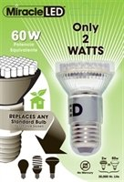 White LED Light Bulb - 60 Watt Equivalent, Uses