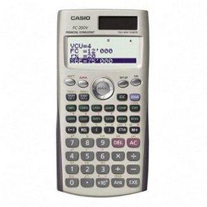 Casio Financial Calculator w/ Direct Mode Key. CASIO SCIENTIFIC CALCULATOR CALC. 4 Line(s) - 12 Character(s) - Dot Matrix - Solar, Battery Powered - 3.17' x 6.33' x 0.44' - Silver