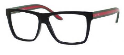 b79c23631f Gucci GG1008 Eyeglasses-051N Shiny Black Red Green-55mm - Gucci ...