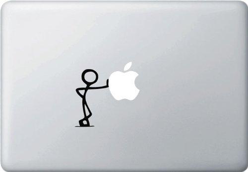 MacBook 対応 アートステッカー - LEAN - (Black) 【並行輸入品】
