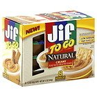 Jif to Go Natural Creamy Peanut Butter 8 Individual Cups (Pack of 6) Picture
