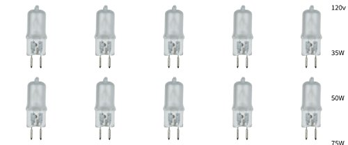 10 Pack Frosted Lense Dimmable Q75/G5.3/FR/120V G5.3 JCD 75 Watt 120 Volt Halogen Light Bulb Electric Oil Warmer Bulbs Replacement Candle Warmer GE Oven Microwave Oil Aromatherapy Lamp Incense Diffuser Dimming Wax Burner Bulb g5.3 FR 75W (Lightbulb For Candle Warmer compare prices)