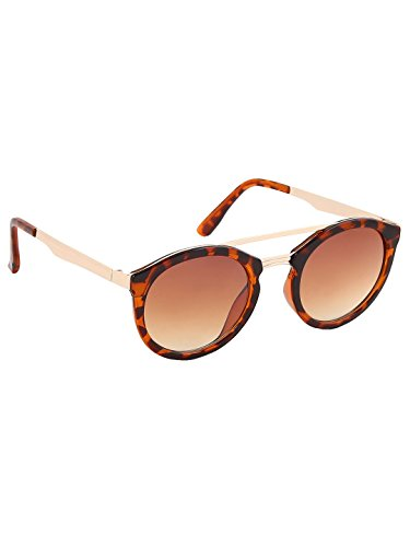 Olvin Unisex Brown Oval Sunglasses (OL332-04)