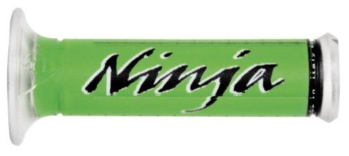 Harris Grips Sport Bike Grips - Ninja - Green/Black , Color: Green 01687-NJ