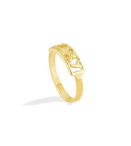 New 14k Solid Yellow Gold BABY Child Kids Designer Ring