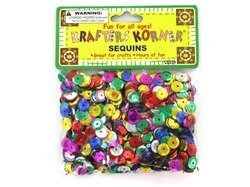 New - Round colored sequins - Case of 48 by krafters korner