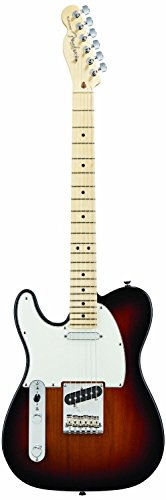 Fender American Standard Telecaster Electric Guitar, Maple Fingerboard, Left Handed, 3-Tone Sunburst