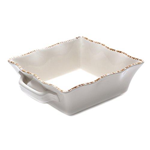 Prima Design Classic Square Baker, 8-Inch, Cream