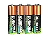Guilty Gadgets ® - 4 X Duracell AA 2400mah Rechargeable Batteries - Brand New Uk Stock