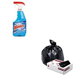 KITDRA90135EAJAGG4046HBL - Value Kit - Jaguar Plastics Low-Density Commercial Can Liners (JAGG4046HBL) and Windex Powerized Glass Cleaner with Ammonia-D (DRA90135EA)