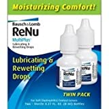 Bausch & Lomb Renu Multiplus Lubricating & Rewetting Drops, 2 Count, 0.27 Ounce