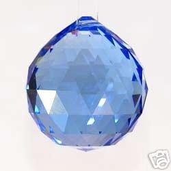 30mm Blue Crystal Ball Prisms #1701