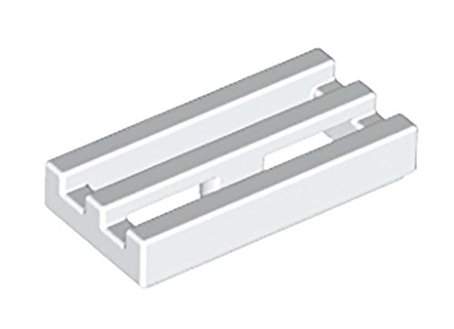 Lego Radiator Grille, White (1x2) Set of 50