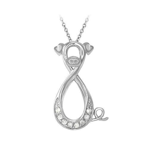 1/10 ct. tw. Diamond Infinity Pig Pendant in Sterling Silver