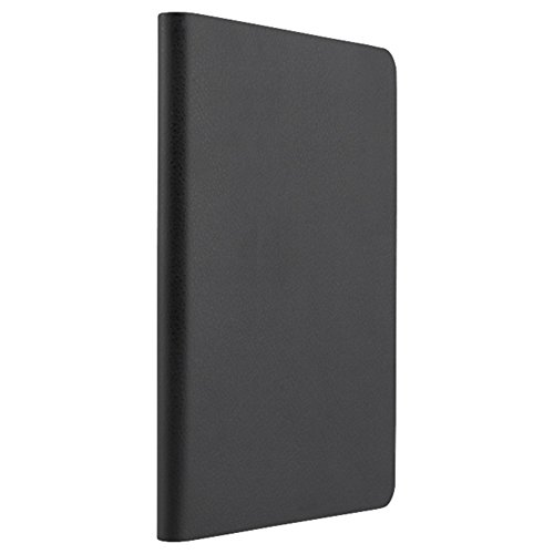 iBUFFALO iPad Air 2 (2014年) レザーケース 回転スタンド付 液晶保護フィルム付 ブラック BSIPD14LRBK 【縦置き横置き自由自在薄型回転スタンド付】