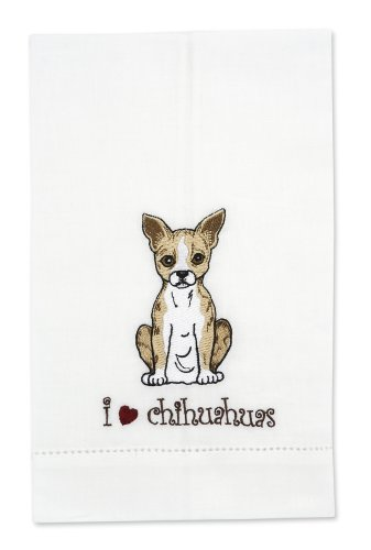 Rescue Me Now Chihuahua Tea Towel, 11 By 7-Inch, Embroidered
