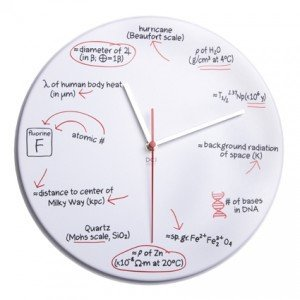 Dci Science Quiz Wall Clock front-6137