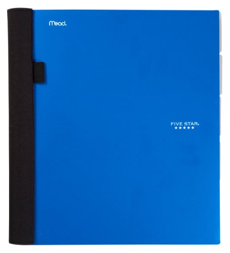 Five Star Advance Notebook, 5-Subject, 200-Count, College Ruled, Blue (72323)