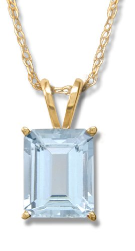 14KT Ladies 2.00CT Aquamarine Pendant