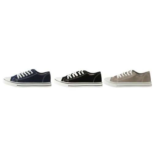 Mens Low-Top Canvas Tennis Trainers