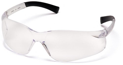 Pyramex Ztek Safety Eyewear, Clear Lens With Clear Frame