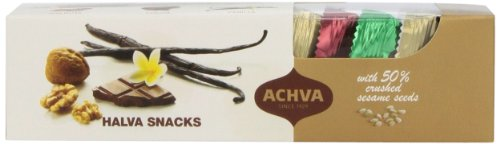 Achva Snacks Halva Gift Box, 10.5-Ounce Packages
