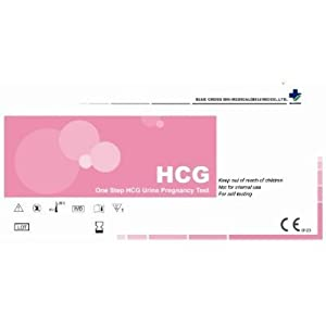 BlueCross babi One Step HCG Urine Pregnancy Test Strips, 30-count